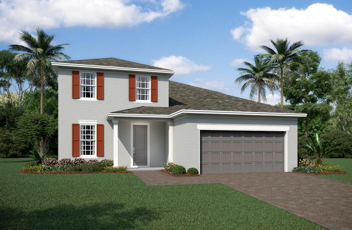 Exterior featured in the Newbury II By Beazer Homes in Orlando, FL