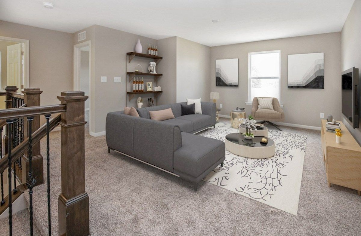 Living Area featured in the Juniper By Beazer Homes in Indianapolis, IN