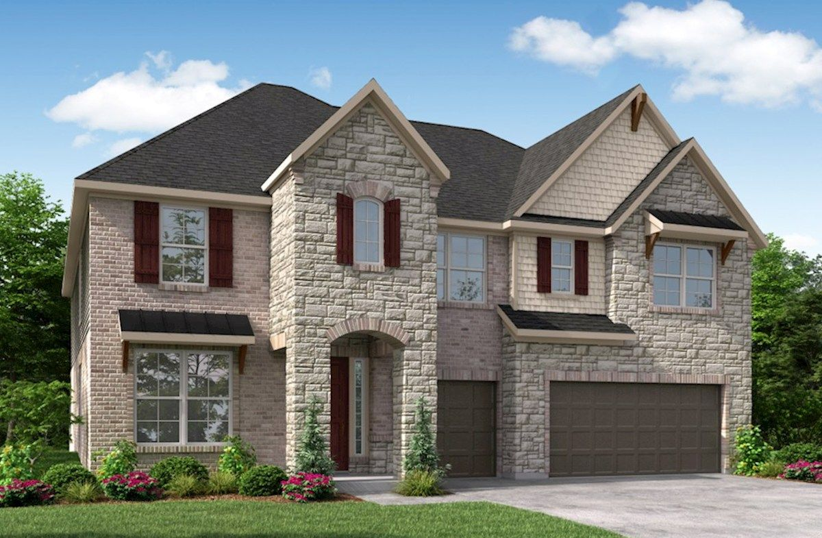 Exterior featured in the Northcliffe By Beazer Homes in Houston, TX
