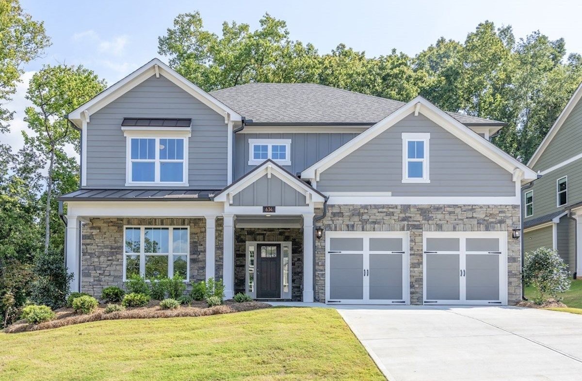 Exterior featured in the Windsor By Beazer Homes in Atlanta, GA