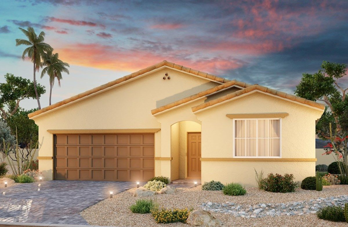 Exterior featured in the Willow By Beazer Homes in Las Vegas, NV