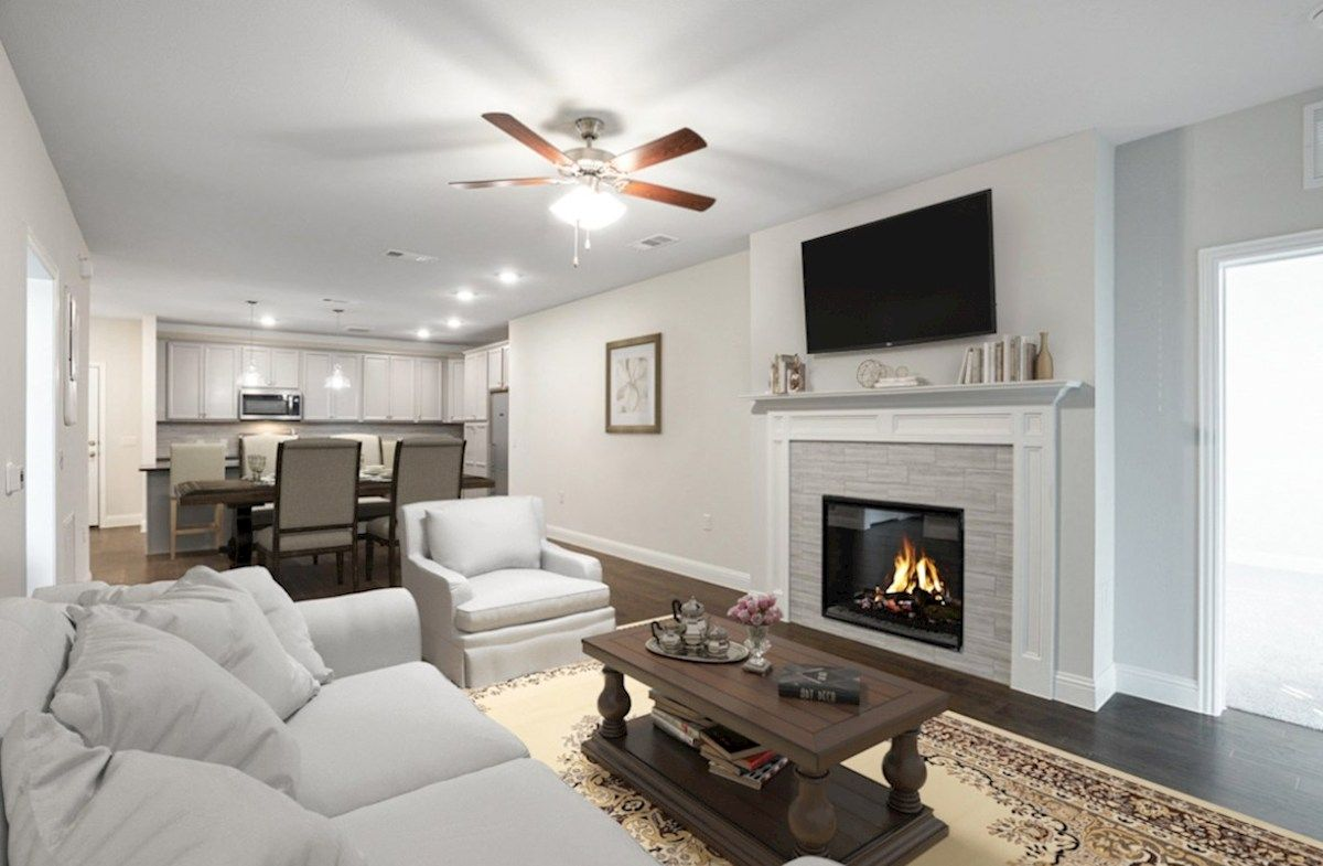 Living Area featured in the Dorset By Beazer Homes in Dallas, TX