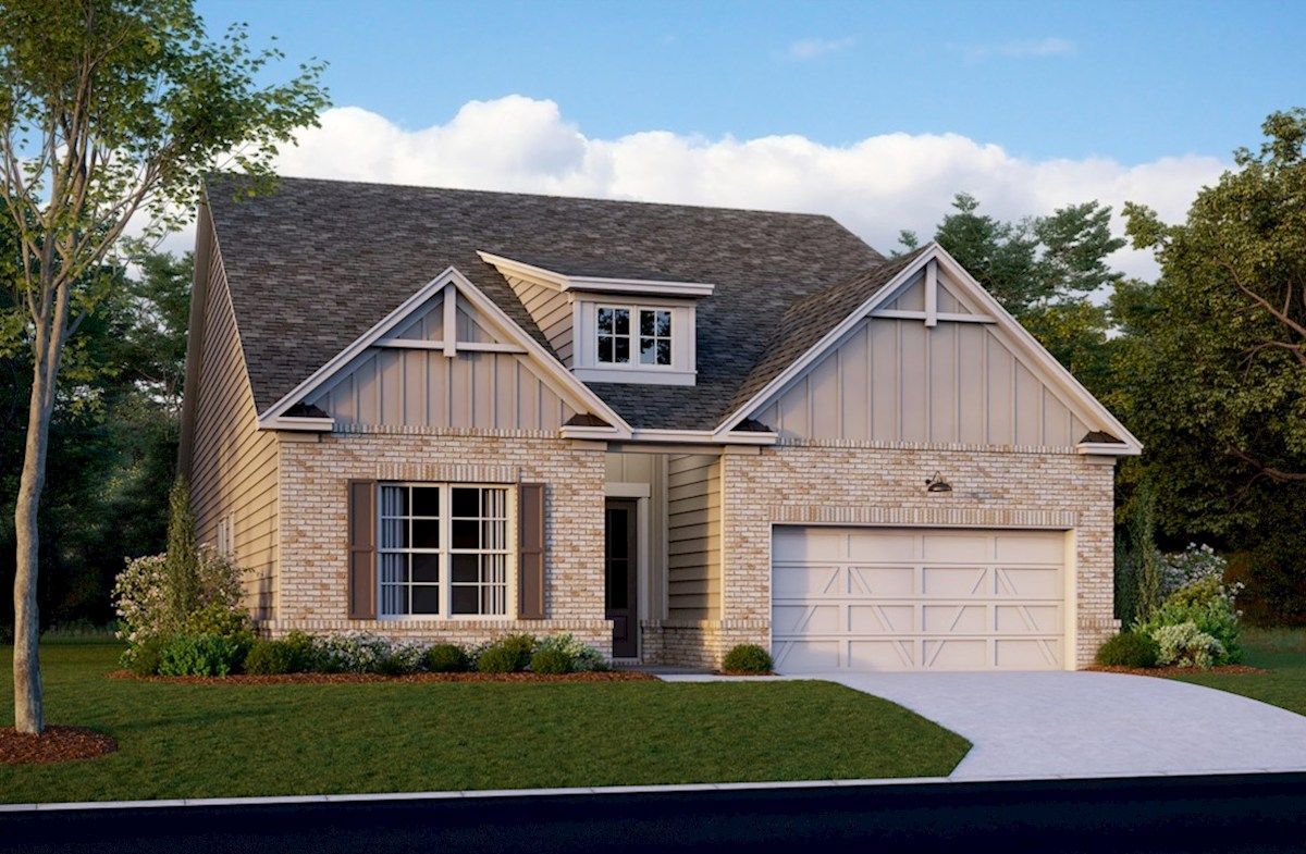Exterior featured in the Englewood By Beazer Homes in Atlanta, GA