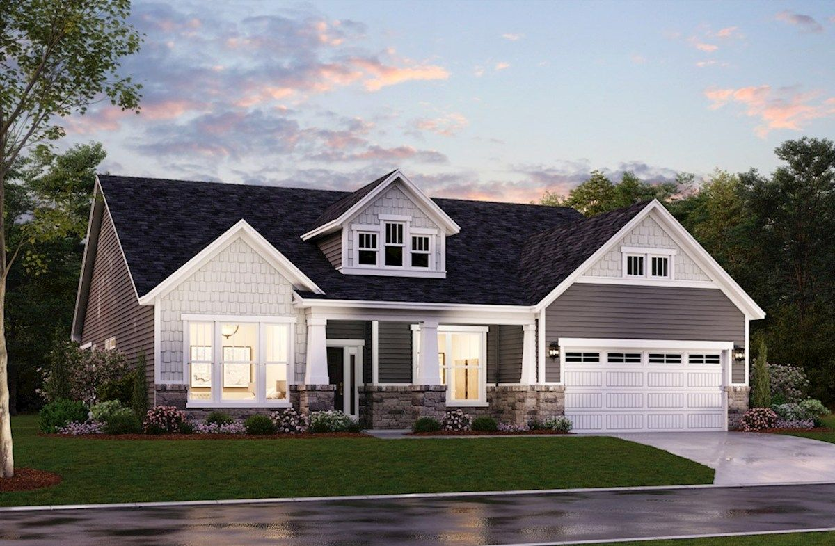Exterior featured in the Charleston By Beazer Homes in Indianapolis, IN