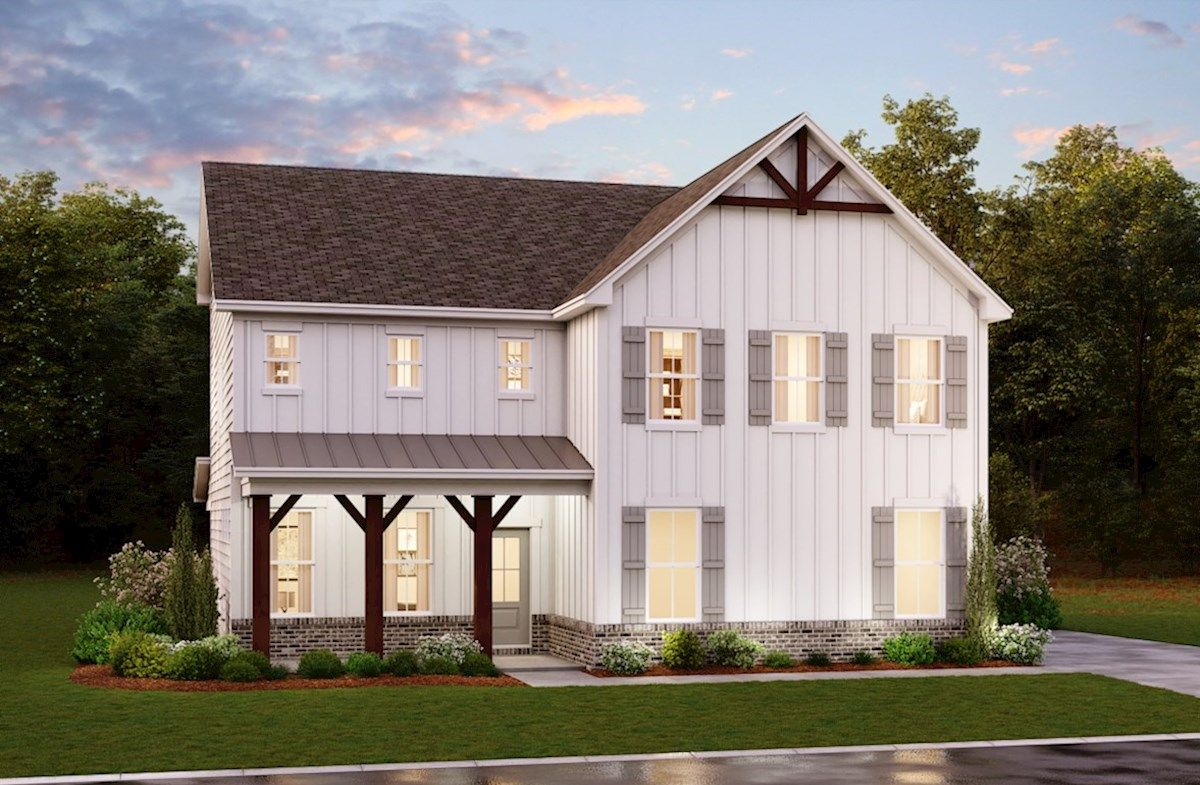 Exterior featured in the Lincoln By Beazer Homes in Atlanta, GA