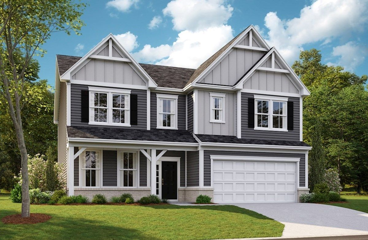 Exterior featured in the Liberty By Beazer Homes in Indianapolis, IN