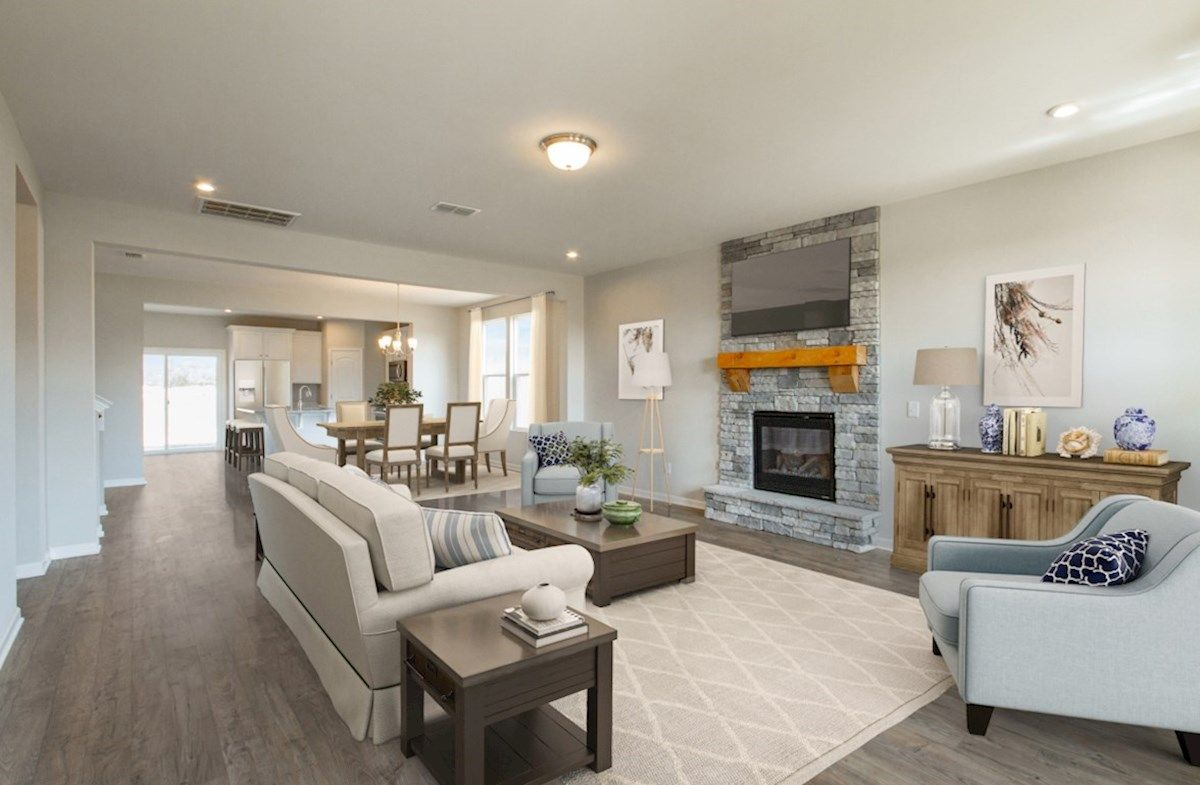 Living Area featured in the Adelaide By Beazer Homes in Nashville, TN