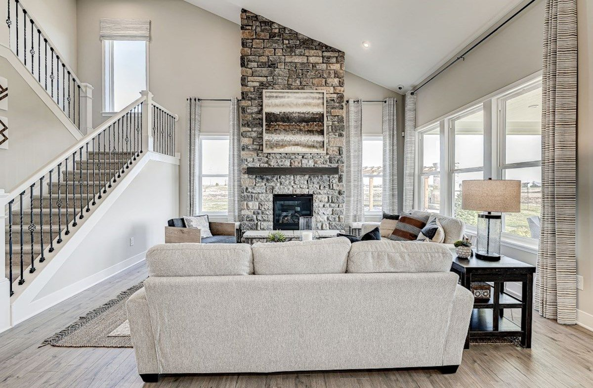 Living Area featured in the Charleston By Beazer Homes in Indianapolis, IN