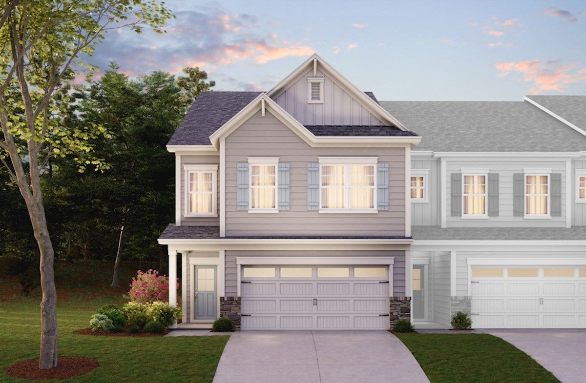 Exterior featured in the Addison By Beazer Homes in Raleigh-Durham-Chapel Hill, NC