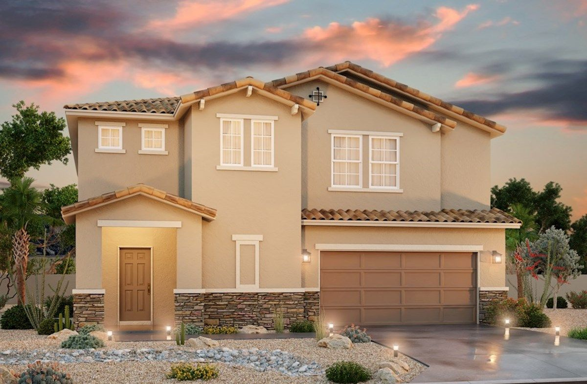 Exterior featured in the Berkshire By Beazer Homes in Las Vegas, NV