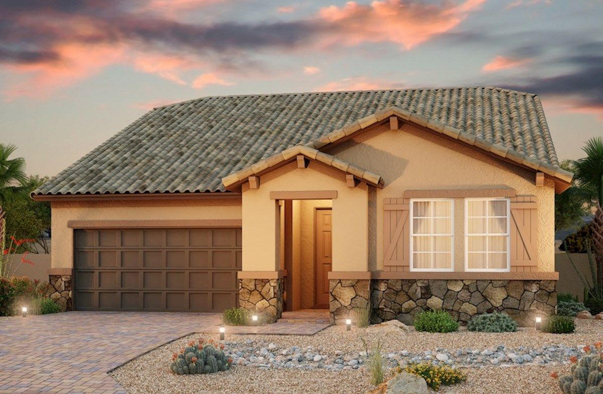 Exterior featured in the Everett By Beazer Homes in Las Vegas, NV