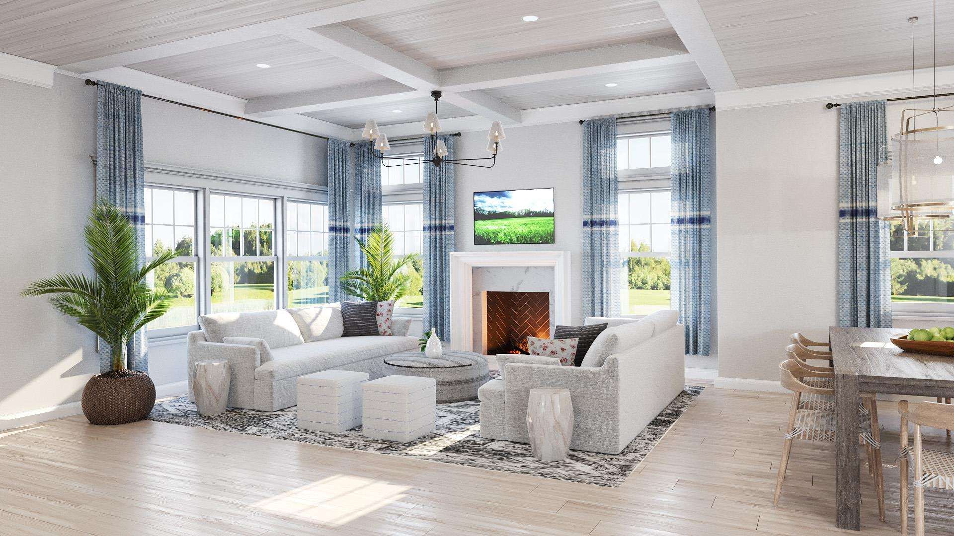 Living Area featured in the Villa C2 By Beechwood Homes in Nassau-Suffolk, NY