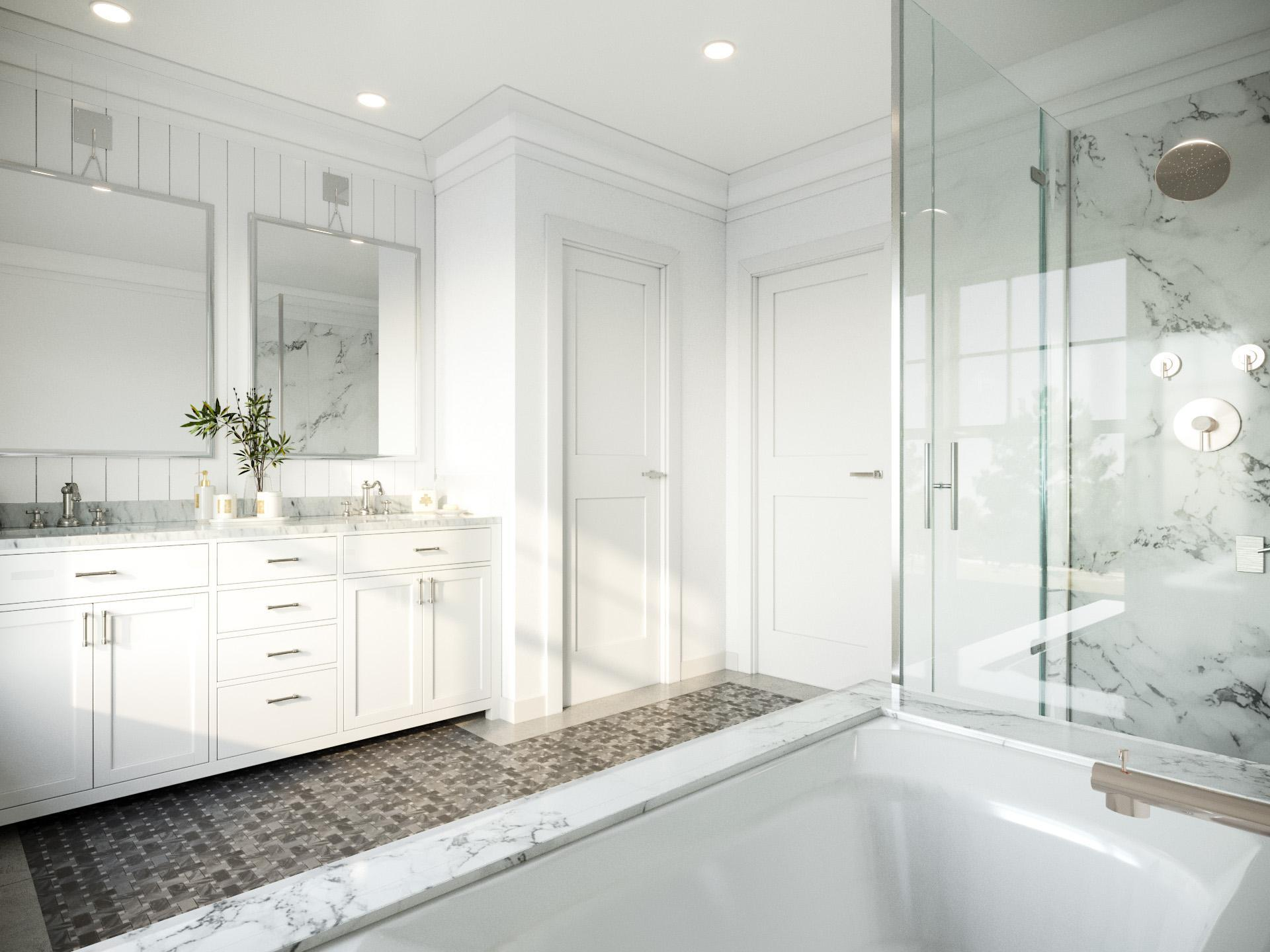 Bathroom featured in the Townhome A By Beechwood Homes in Nassau-Suffolk, NY