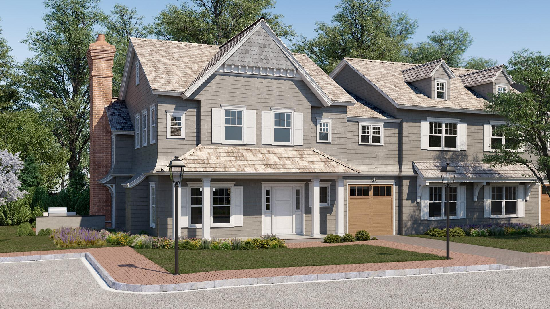 Exterior featured in the Townhome A By Beechwood Homes in Nassau-Suffolk, NY