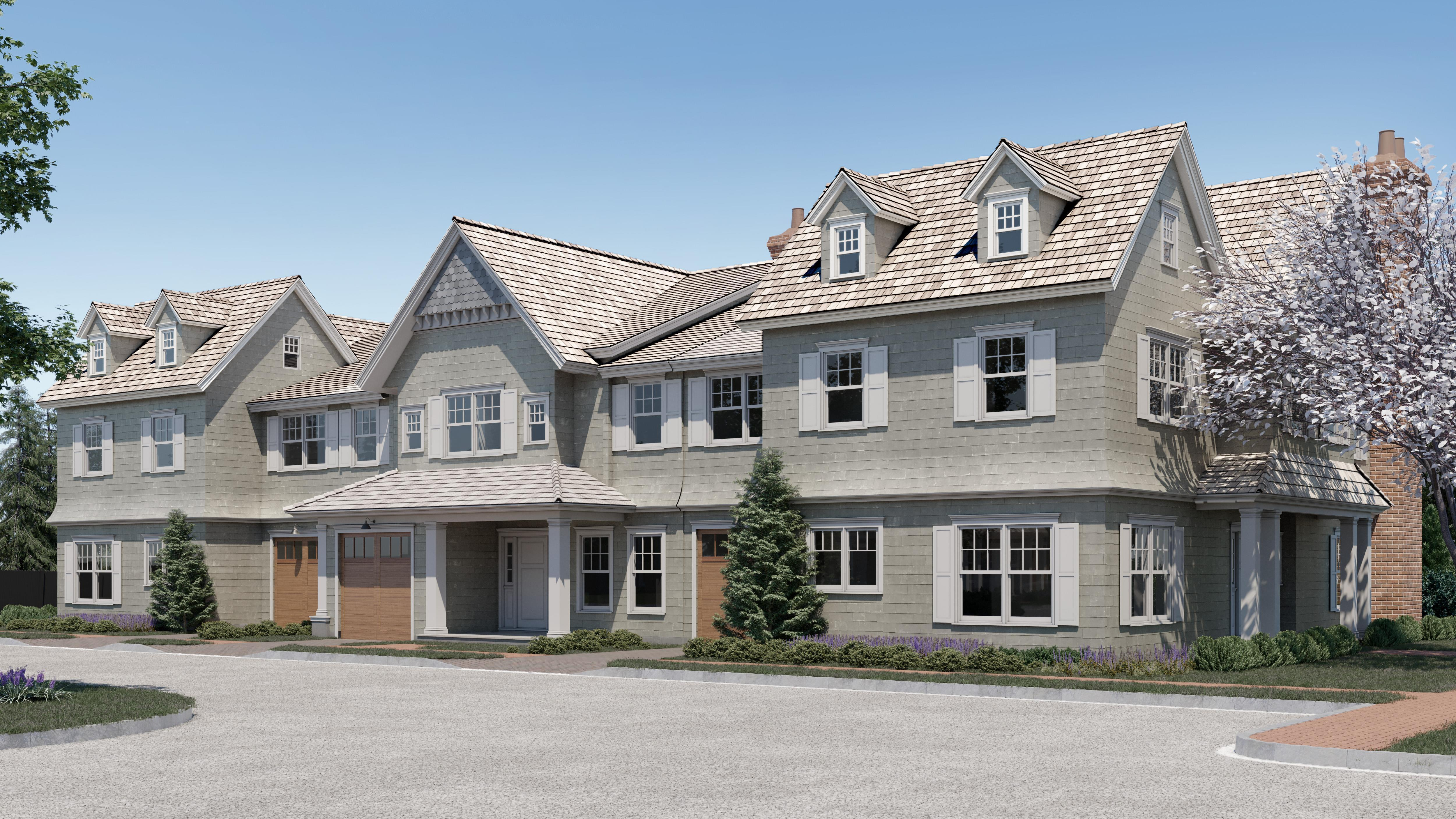 Exterior featured in the Townhome E1 By Beechwood Homes in Nassau-Suffolk, NY