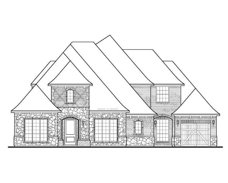 Exterior featured in the B810 By BelclaireHomes in Dallas, TX