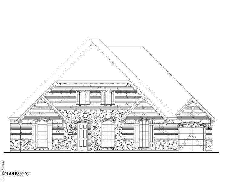 Exterior featured in the B839 By BelclaireHomes in Dallas, TX