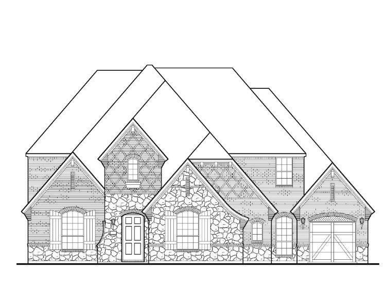 Exterior featured in the B825 By BelclaireHomes in Dallas, TX