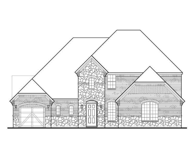 Exterior featured in the B817 By BelclaireHomes in Dallas, TX