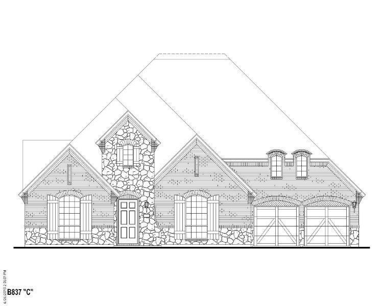 Exterior featured in the B837 By BelclaireHomes in Dallas, TX
