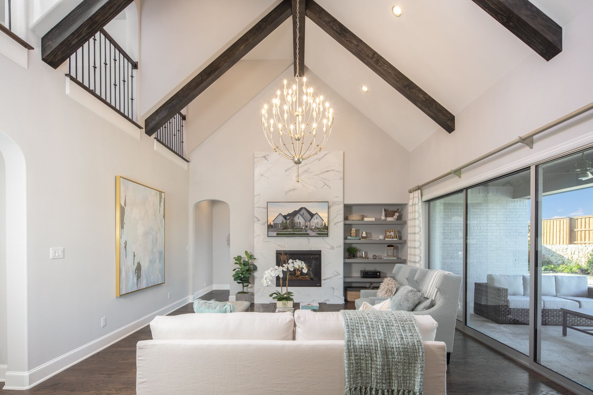 Living Area featured in the B807 By BelclaireHomes in Dallas, TX