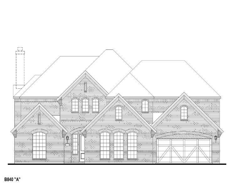 Exterior featured in the B840 By BelclaireHomes in Dallas, TX