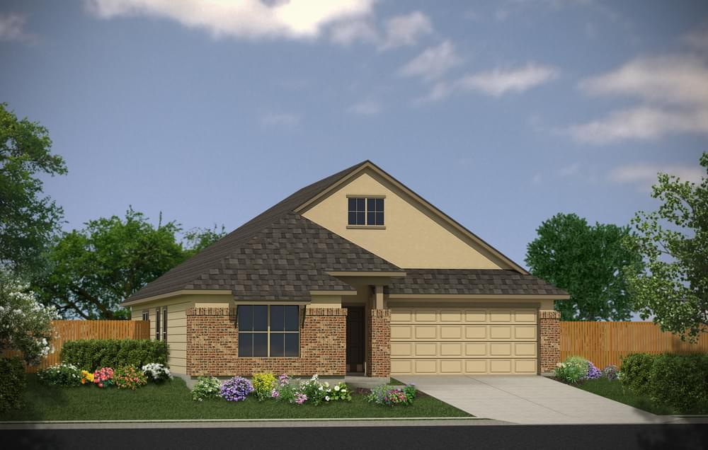 Exterior featured in The Sterling By Bella Vista Homes in San Antonio, TX