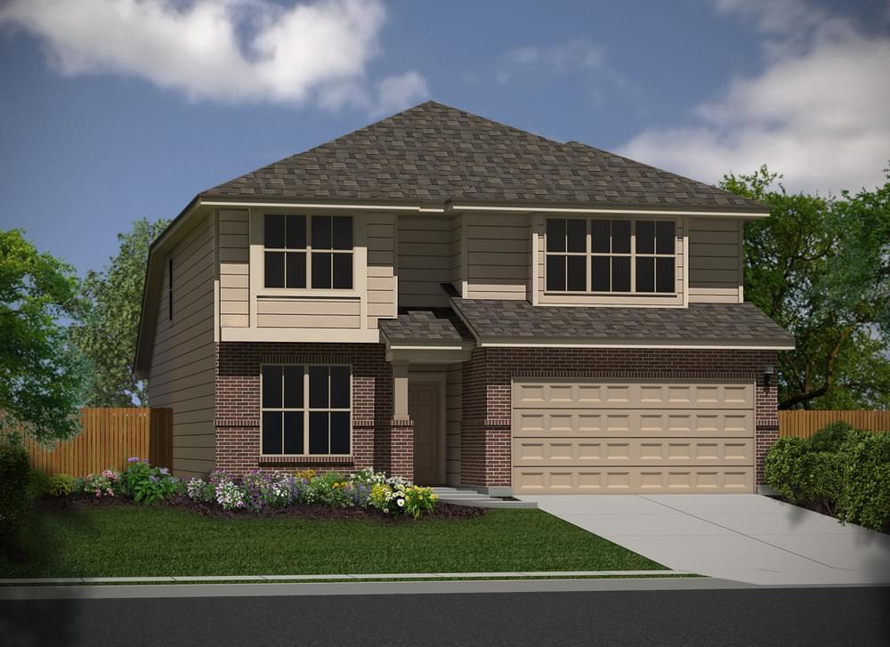 Exterior featured in The Avondale By Bella Vista Homes in San Antonio, TX