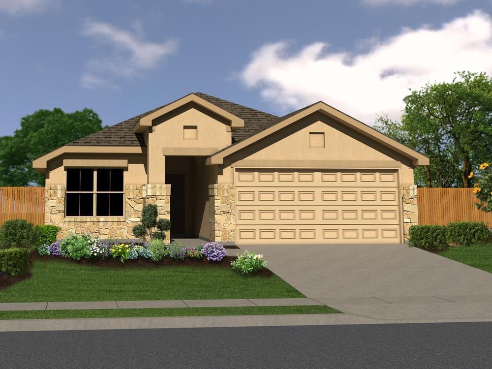 Exterior featured in The Chandler By Bella Vista Homes in San Antonio, TX