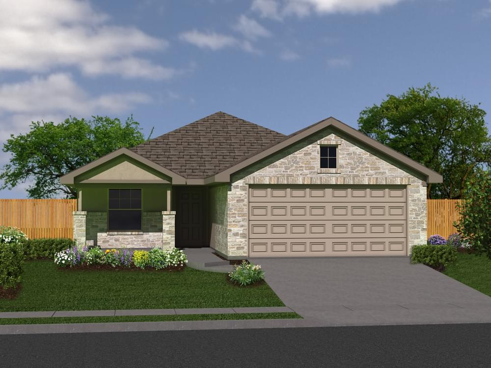 Exterior featured in The Brentwood By Bella Vista Homes in San Antonio, TX