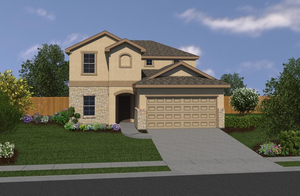 Exterior featured in The Ridgeview By Bella Vista Homes in San Antonio, TX