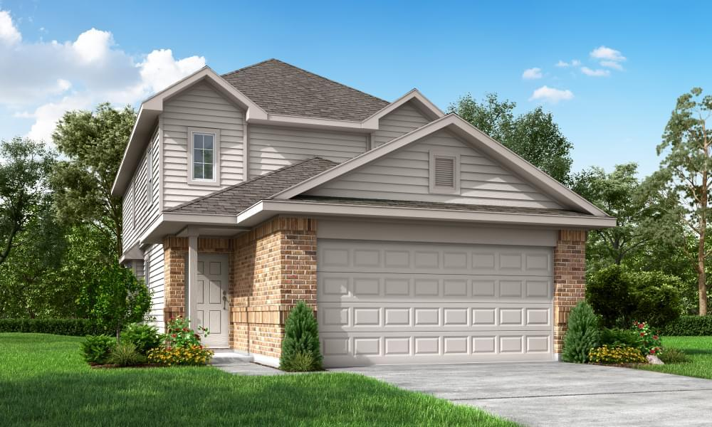 Exterior featured in The Poole By Bella Vista Homes in San Antonio, TX