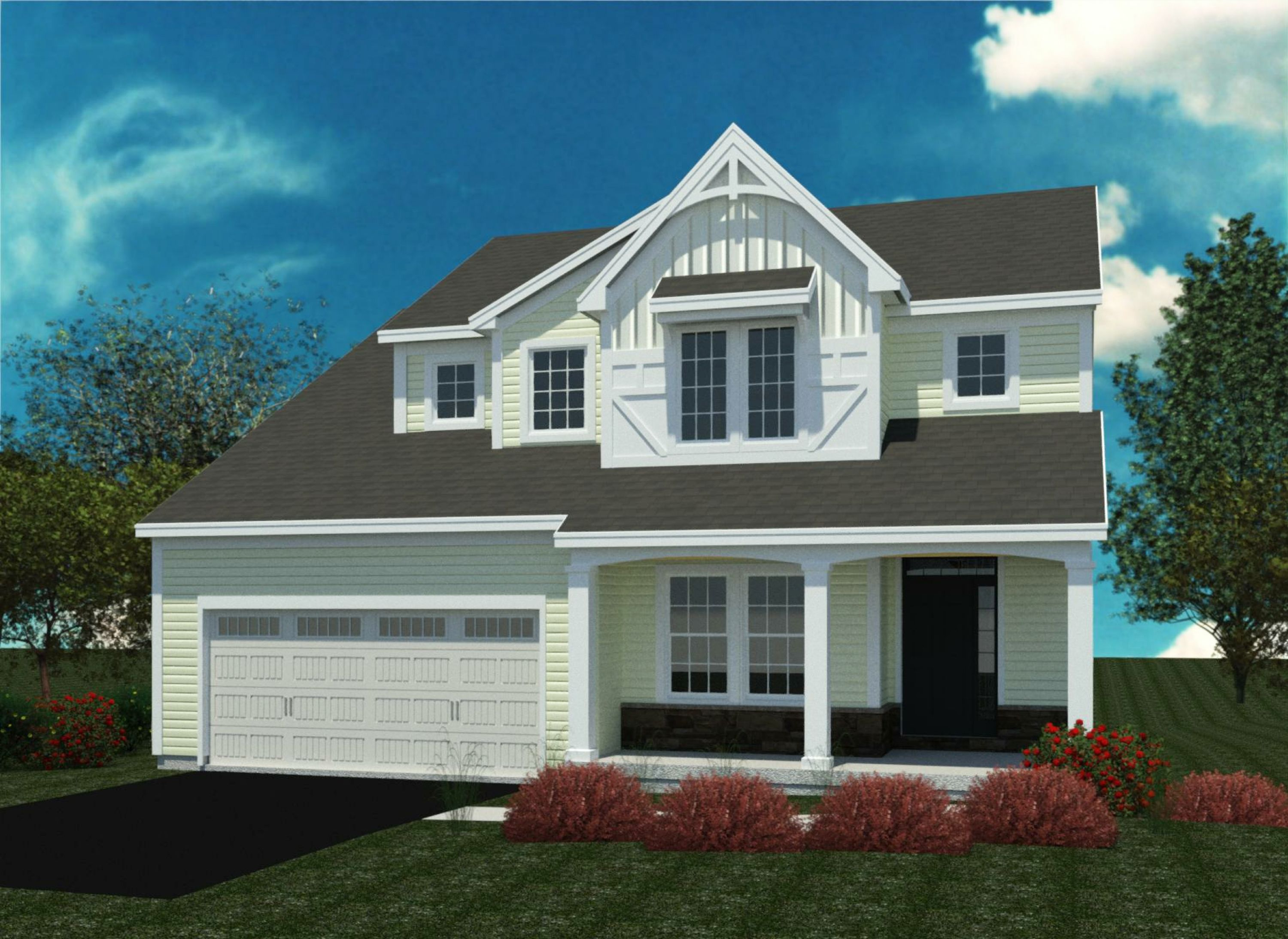 Exterior featured in the Ashford By Belmonte Builders in Albany-Saratoga, NY