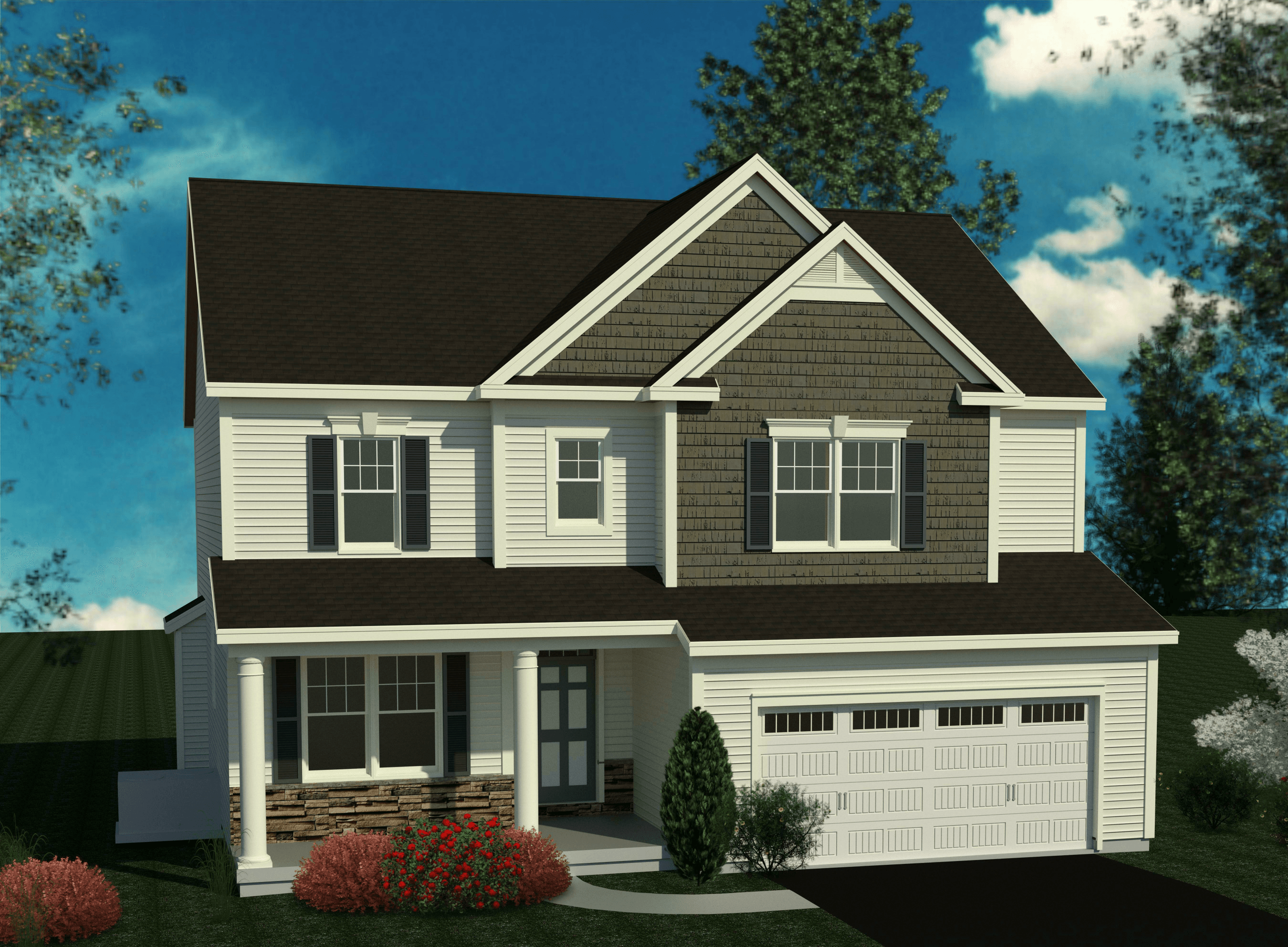 Exterior featured in the Hampton By Belmonte Builders in Albany-Saratoga, NY