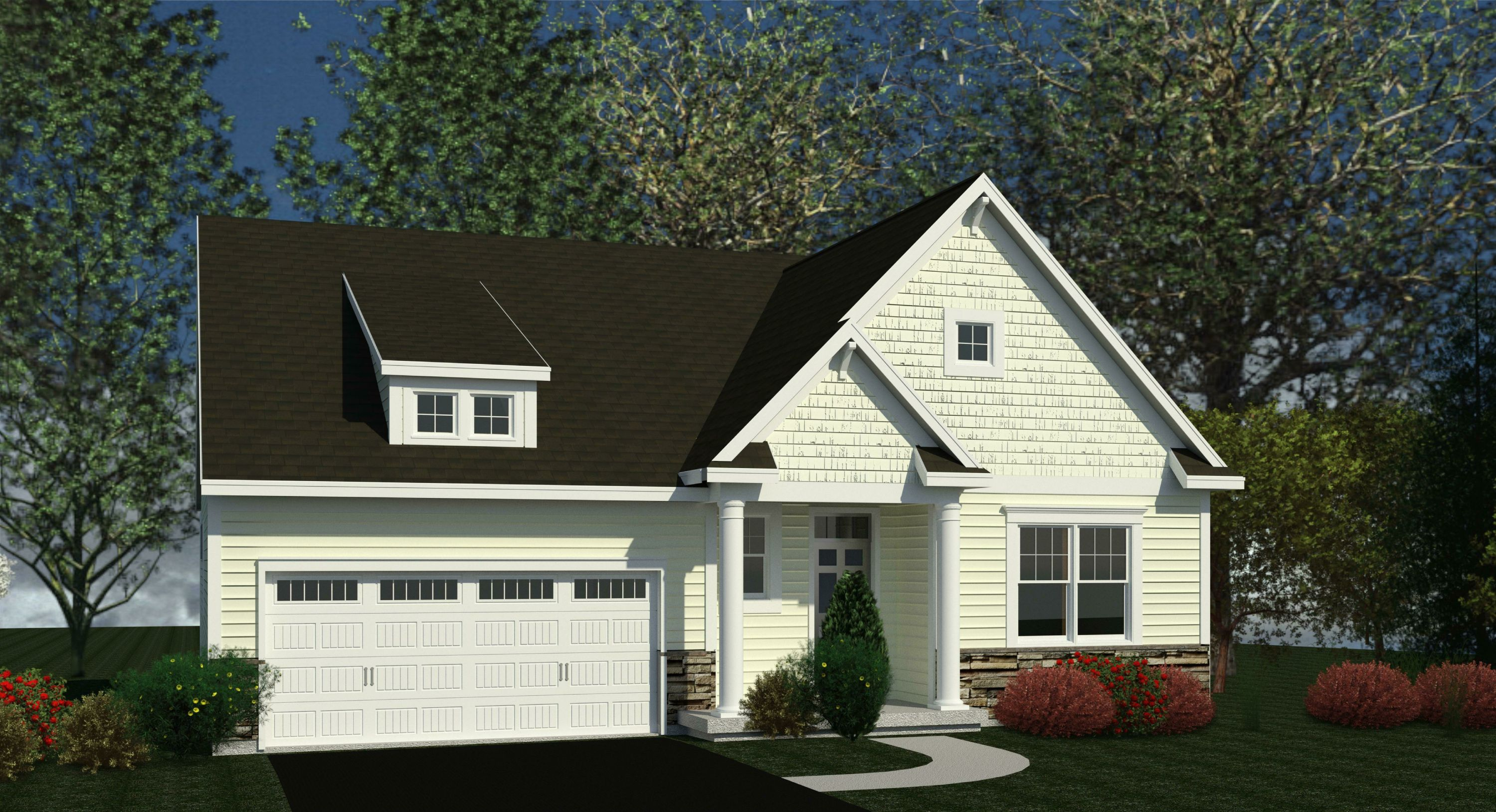 Exterior featured in the Concord By Belmonte Builders in Albany-Saratoga, NY