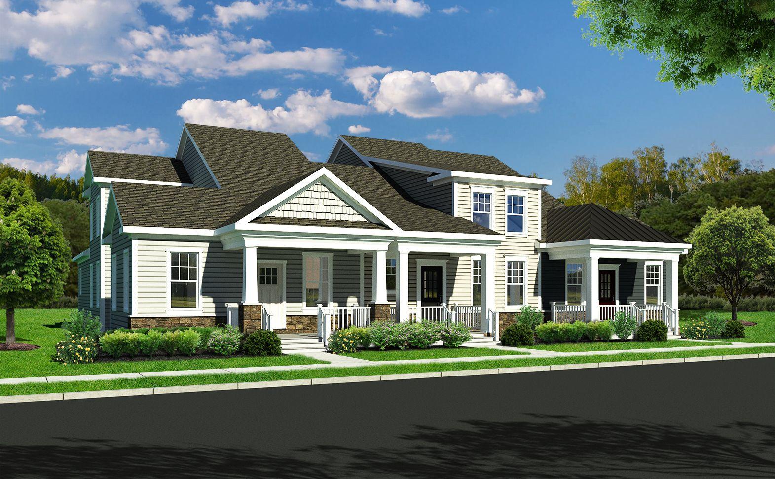 Exterior featured in the Ashton By Benchmark Builders in Wilmington-Newark, DE
