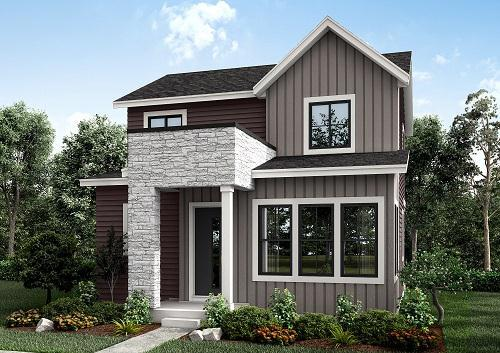 Exterior featured in the Residence 4 By Berkeley Homes in Denver, CO