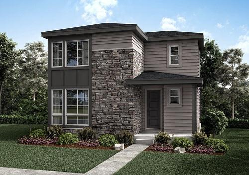 Exterior featured in the Residence 2 By Berkeley Homes in Denver, CO