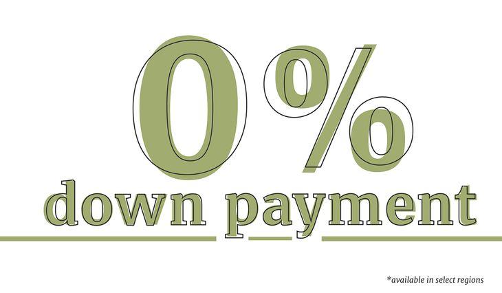 Zero Down Program:zero down payment option in texas