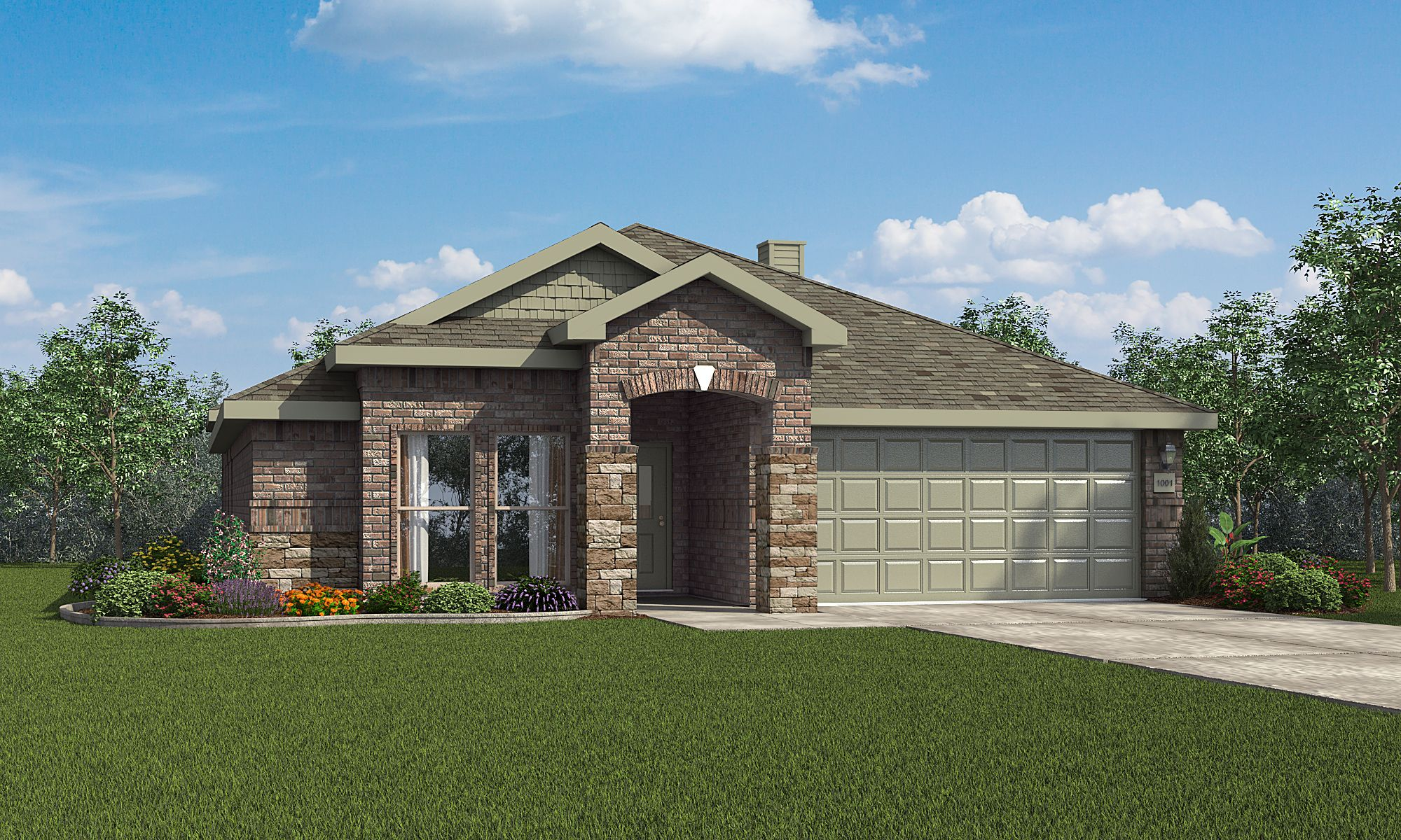Exterior featured in the Martha By Betenbough Homes in Lubbock, TX
