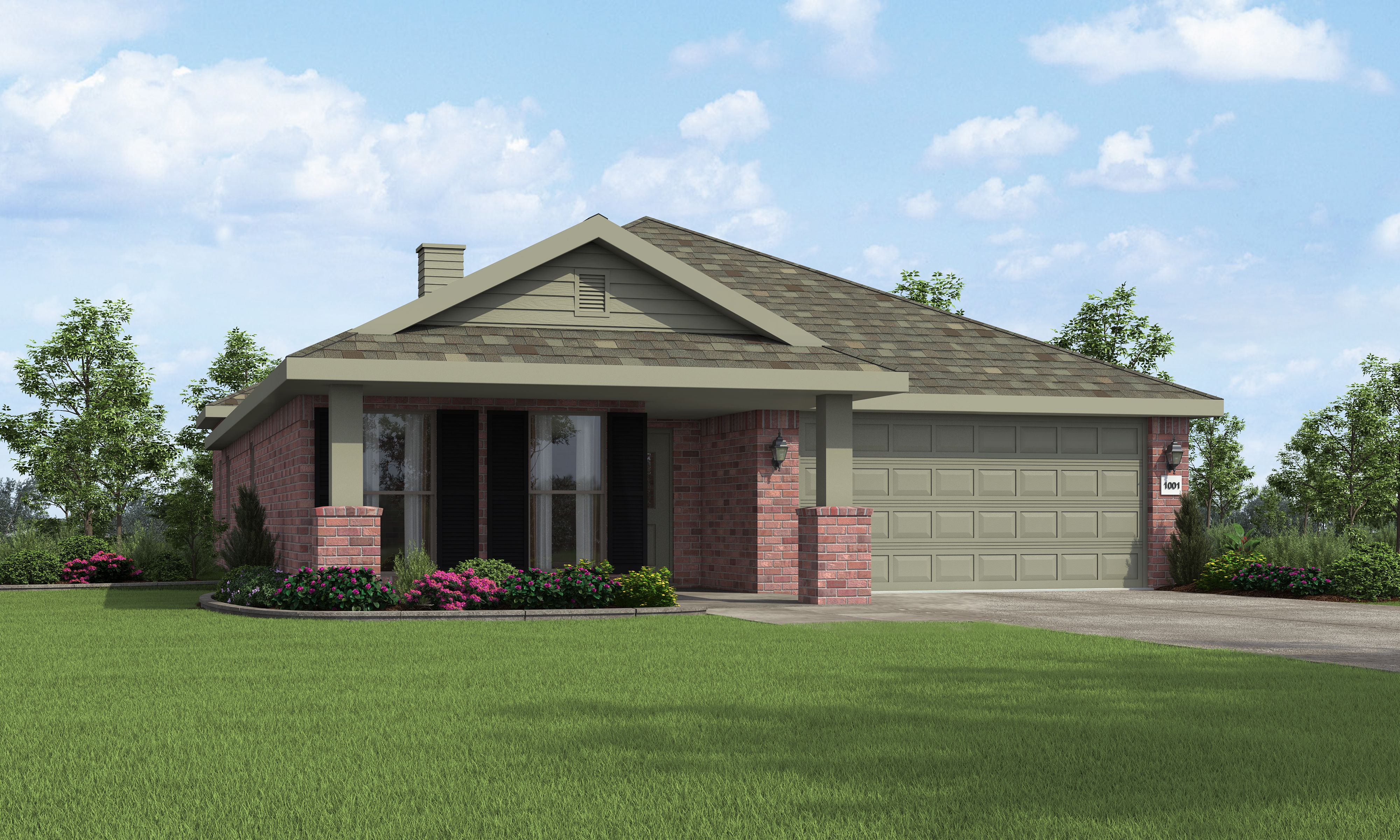 Exterior featured in the Diane By Betenbough Homes in Lubbock, TX