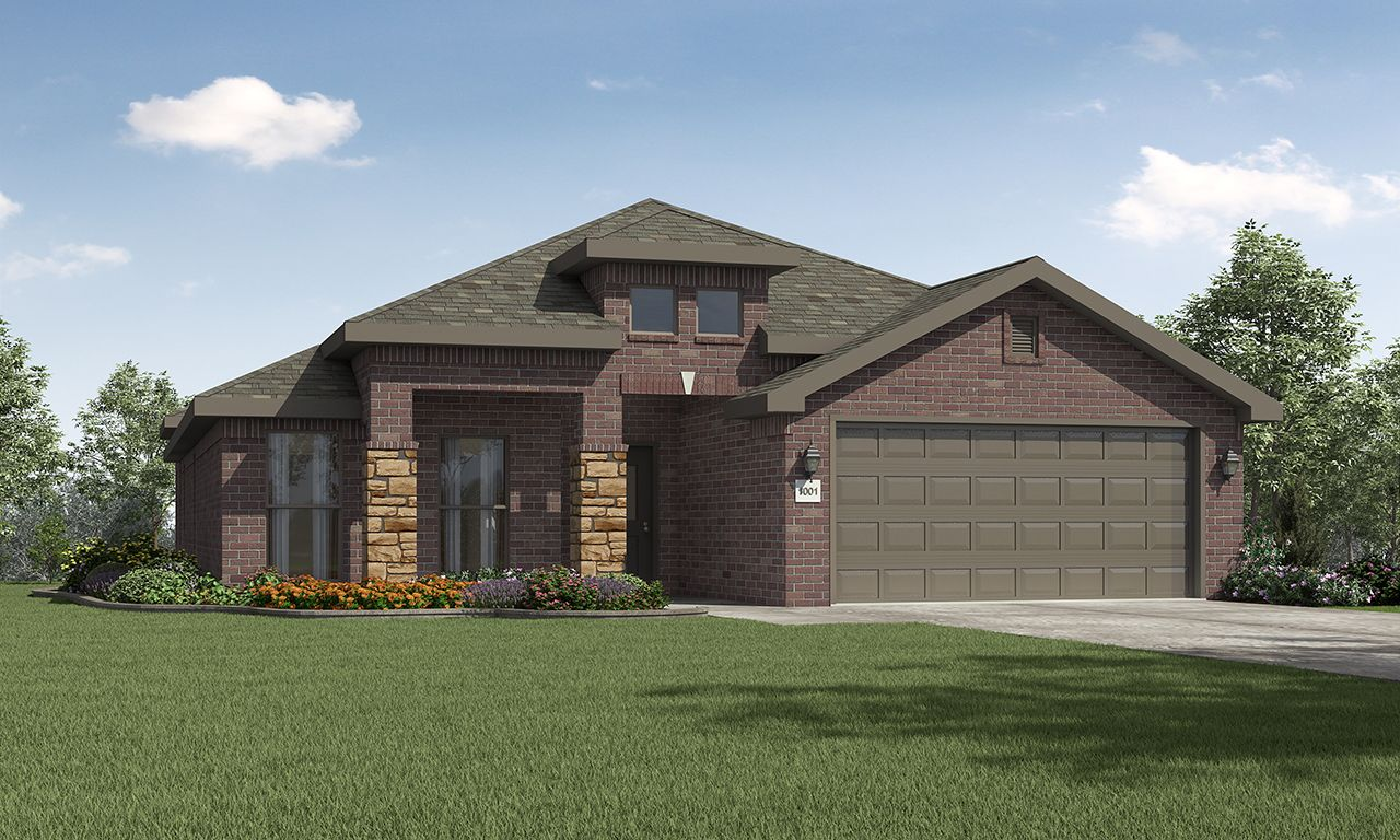 Exterior featured in the Rebecca By Betenbough Homes in Lubbock, TX
