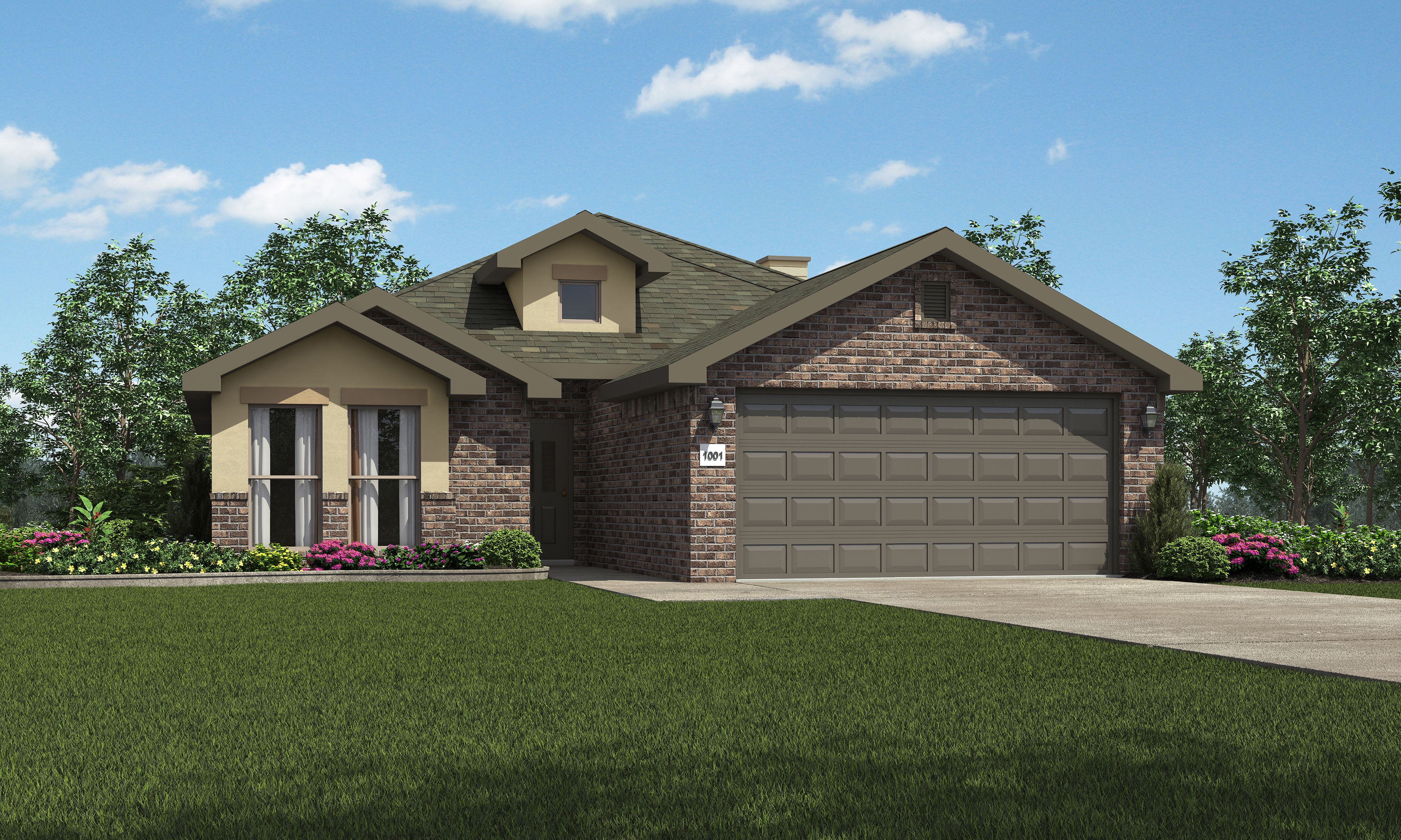 Exterior featured in the Carmi By Betenbough Homes in Lubbock, TX