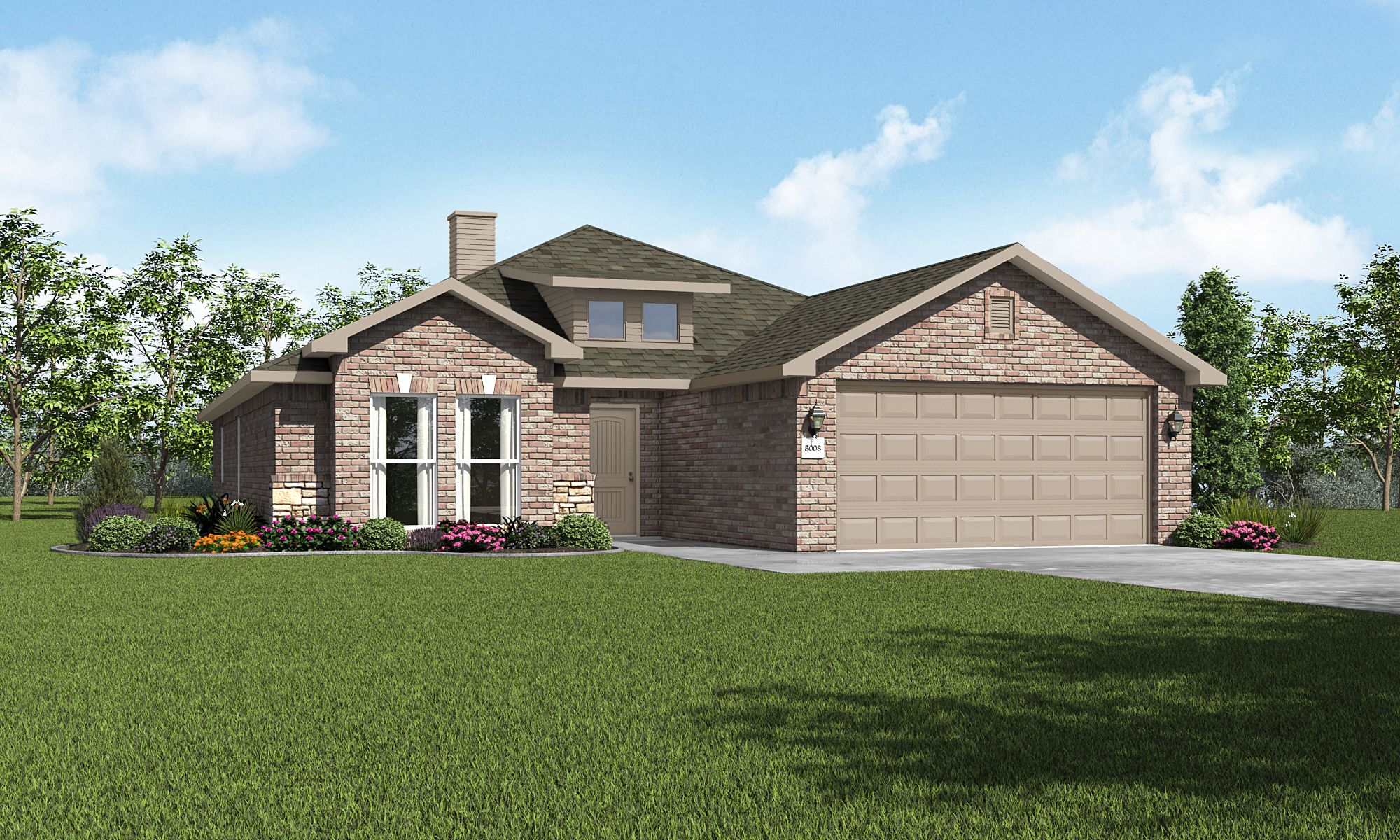 Exterior featured in the Jade By Betenbough Homes in Lubbock, TX