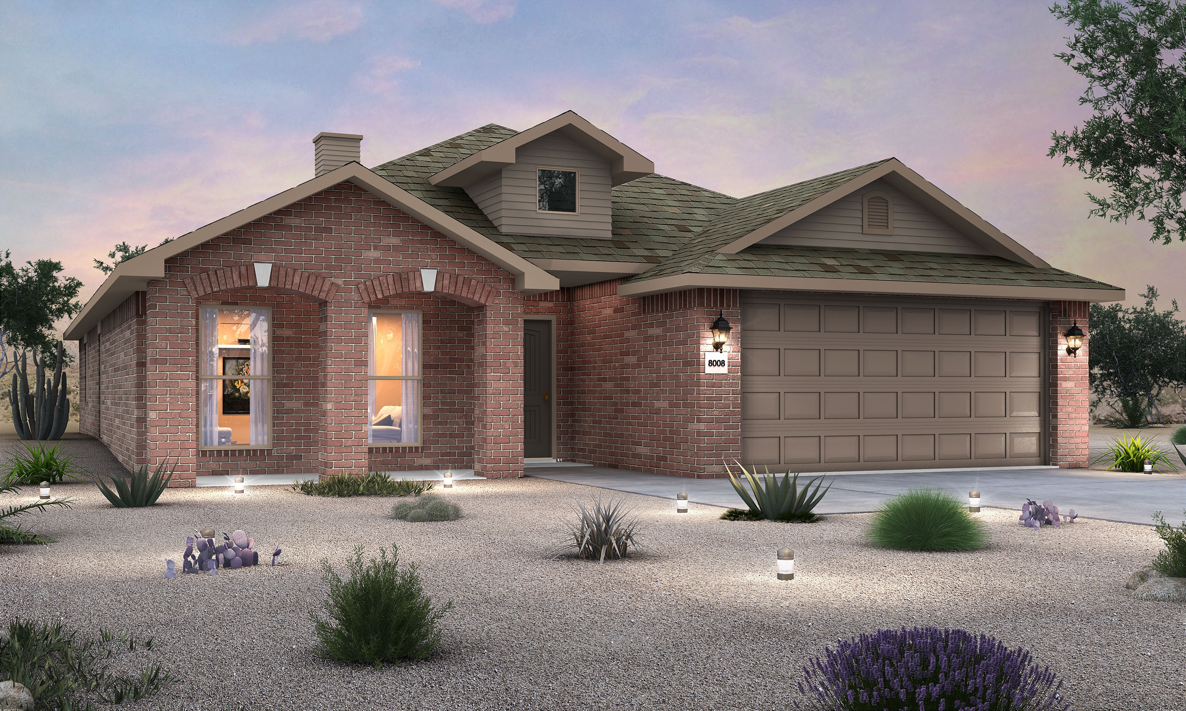 Exterior featured in the Rosa By Betenbough Homes in Lubbock, TX