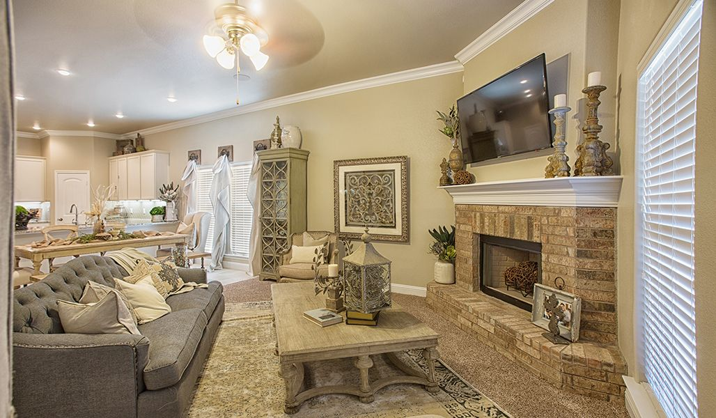 Living Area featured in the Rebecca By Betenbough Homes in Lubbock, TX