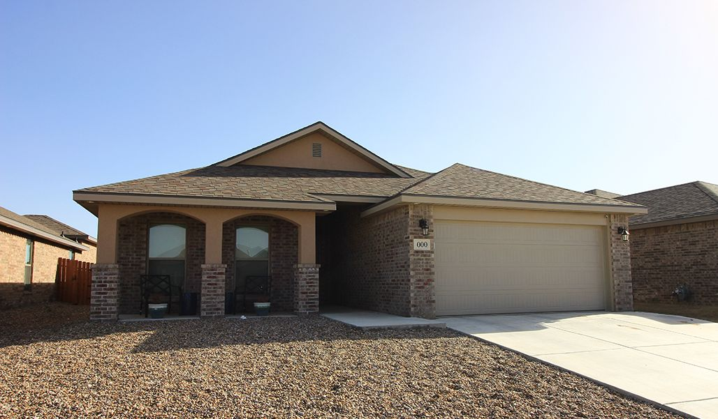 Exterior featured in the Monique By Betenbough Homes in Lubbock, TX