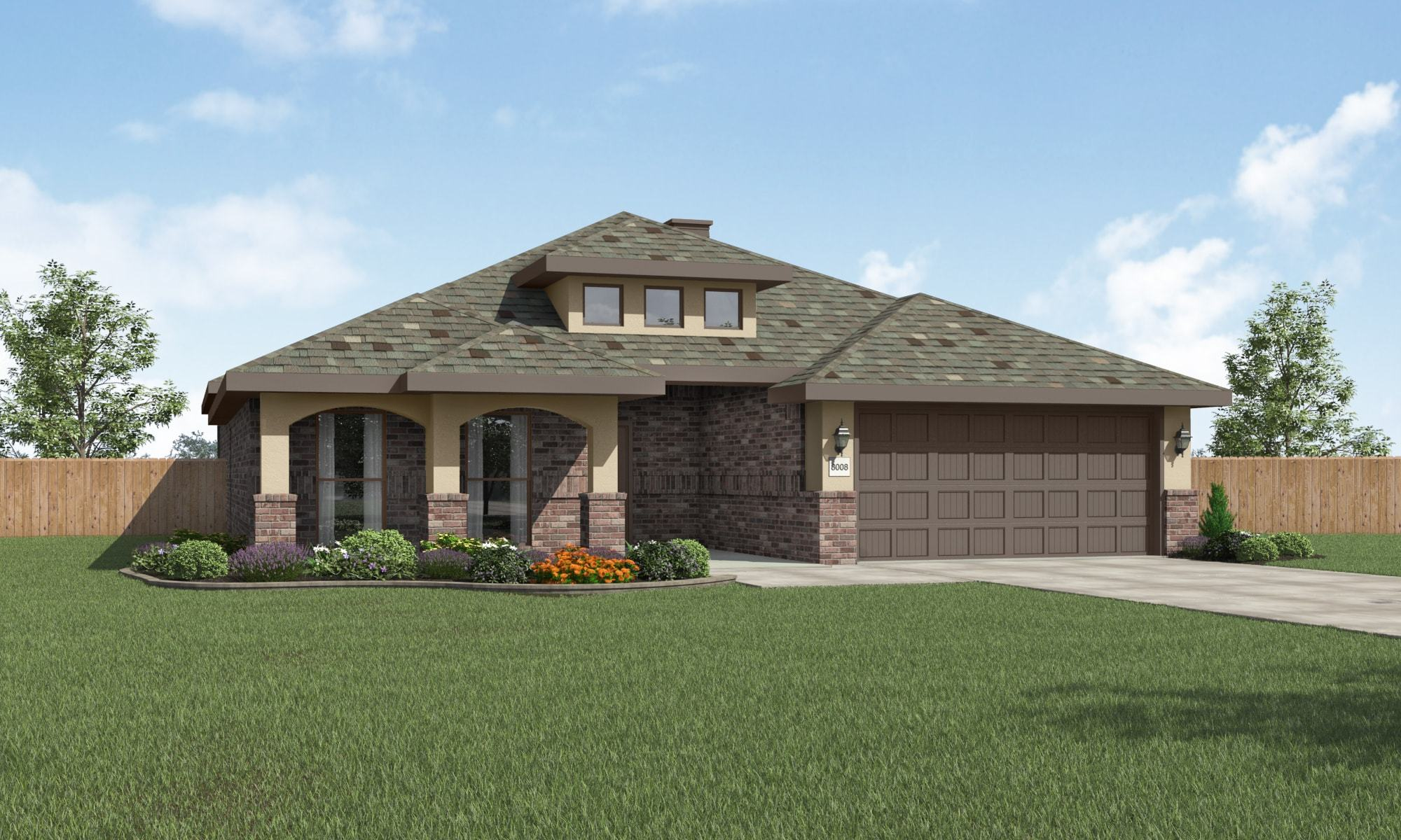 Exterior featured in the Carol Anne By Betenbough Homes in Lubbock, TX