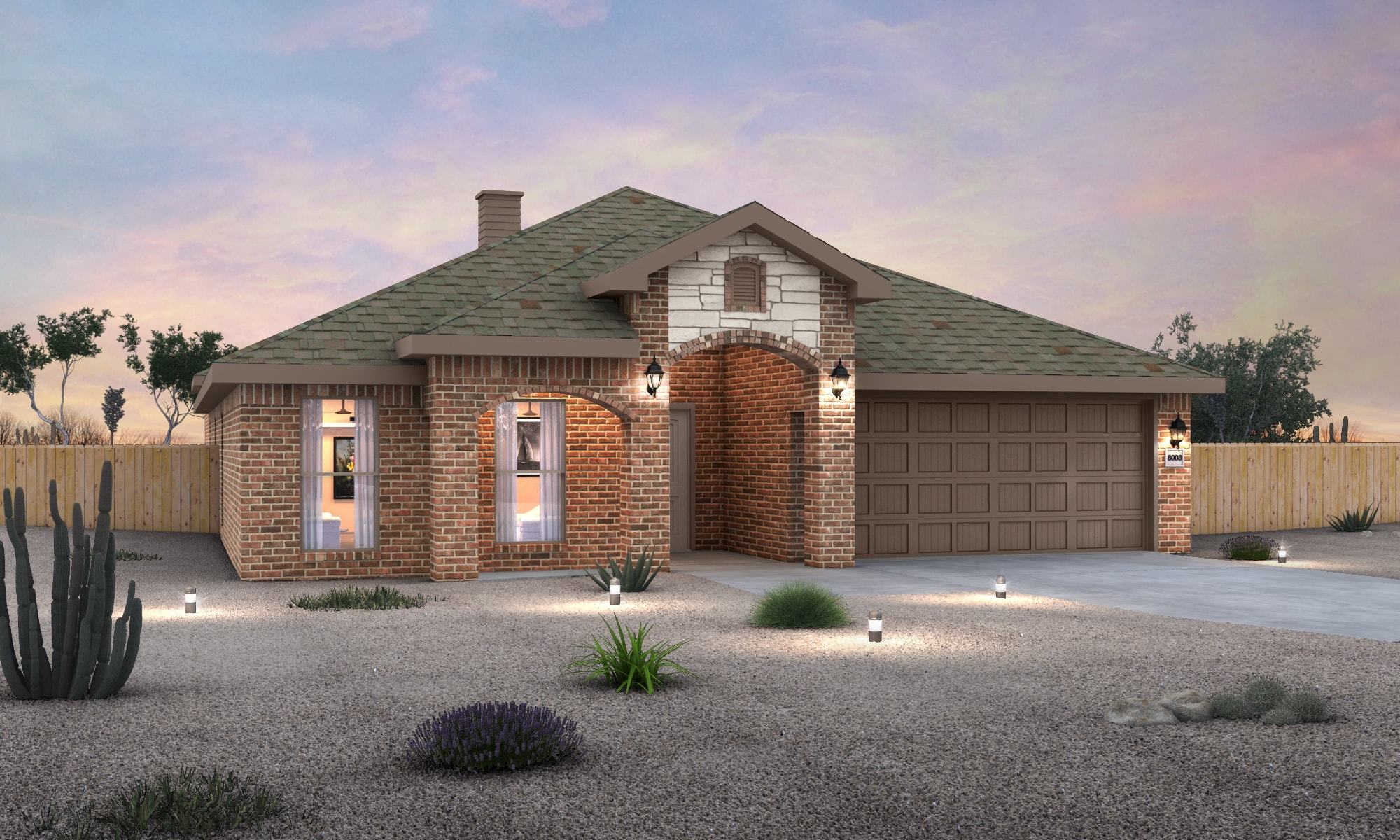 Exterior featured in the Renee By Betenbough Homes in Lubbock, TX