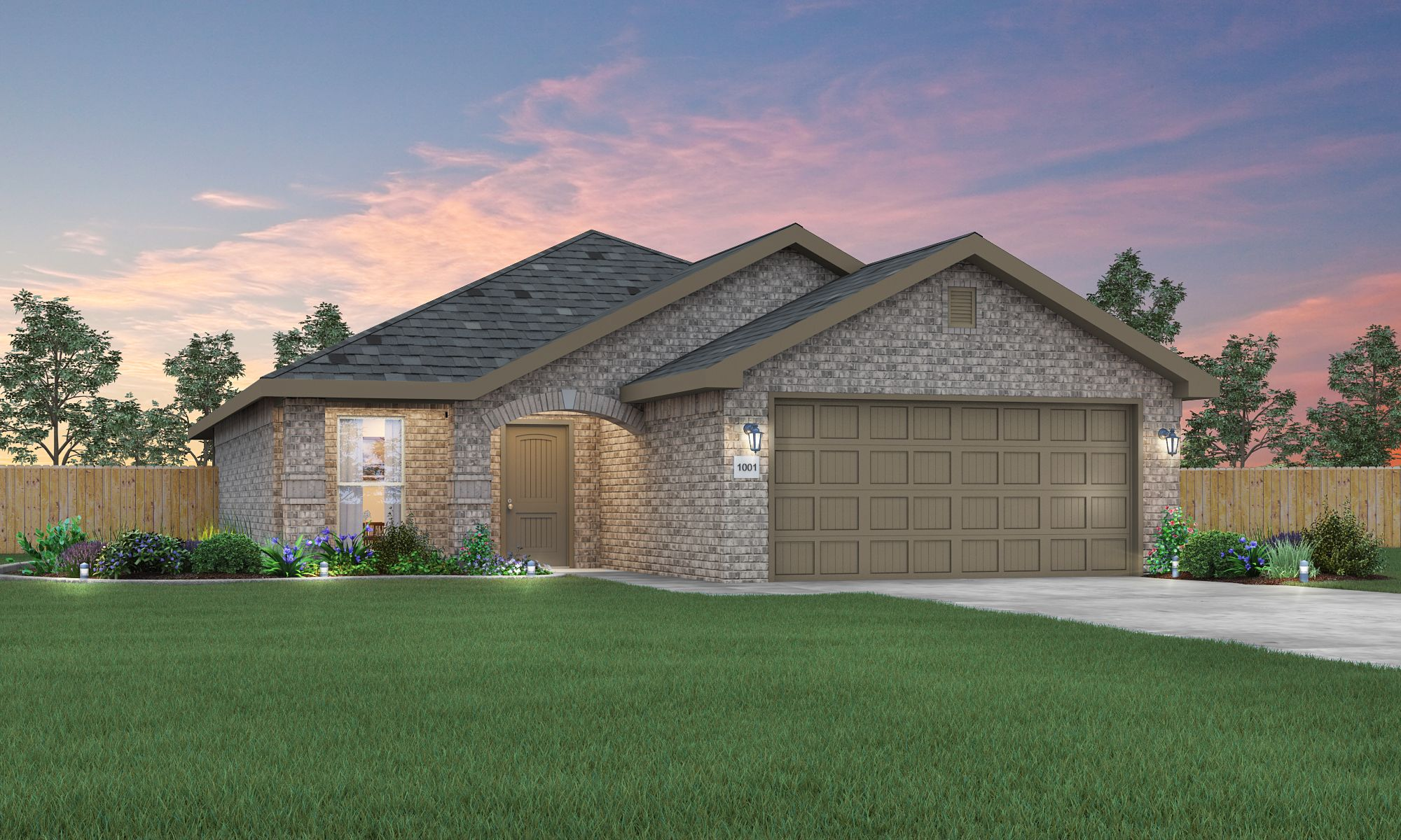 Exterior featured in the Tiffany By Betenbough Homes in Lubbock, TX